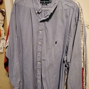 Polo blue and white gingham button up